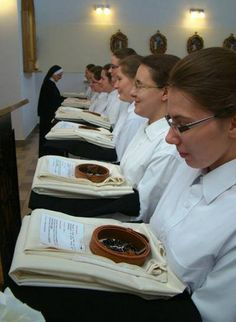 Dominican Sisters of the Immaculate Conception - Postulants receiving habits and religious names, August 16th, 2013.