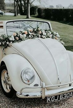 Gorgeous Wedding Car Decoration Ideas ❤ See more: http://www.weddingforward.com/wedding-car-decoration-ideas/ #weddingforward #bride #bridal #wedding