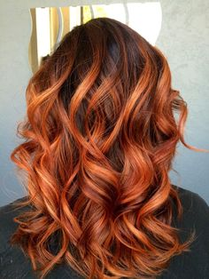 Pretty red/copper balayage hair. Done by Sonja Bush, Eureka CA More