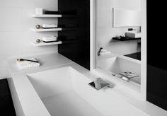 Salle de bain noir et blanc ou en tons contrastés- 40 idées de luxe