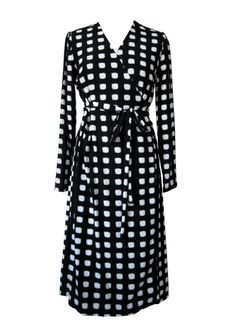 Hey, I found this really awesome Etsy listing at http://www.etsy.com/listing/170534992/black-and-white-warp-dress-checked-dress