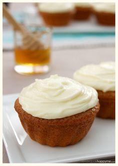 Honey Cakes with Honey Cream Cheese Frosting