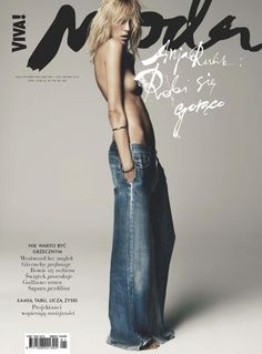 Anja Rubik by Claudia Knoepfel & Stefan Indlekofer for Viva Moda. It's all about the flare.