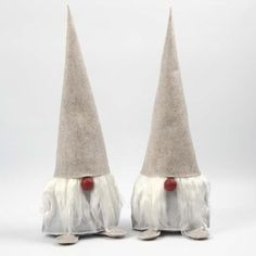 Large Felted Pixies with a Beard made from Raw Silk