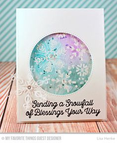 Simply Snowflakes Stamp Set, Snowfall of Blessing Stamp Set, Stylish Snowflakes Die-namics, Starry Circle Die-namics - Lisa Henke  #mftstamps