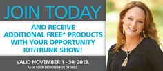 Join our family to become your own boss and receive additional FREE products. Contact me for more info at celebr8urhome@aol.com