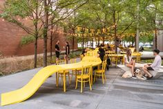 Gallery of Pantone's Color of the Year 2021: Yellow and Grey in Architecture - 23 Urban Intervention, Montreal Ville, Artistic Installation, Parking Design, Architecture Photo, Urban Planning, Color Of The Year, Design Trends, Tulips