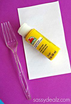 Make Dandelions Using a Fork (Kids Craft) - Sassy Dealz