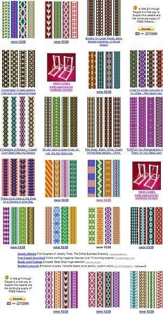 free bead patterns for the loom.: