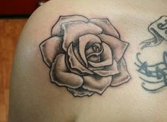 Little rose tattoo I did today. Thank you Porscha!