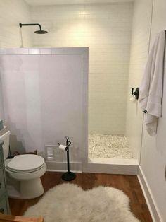 Master bathroom shower, shower doors, bathroom in basement, tiny house bath Master Bathroom Shower, Tiny House Bathroom, Basement Bathroom, Bathroom Interior, Small Bathrooms, Bathroom Ideas, Bathroom Remodeling, Remodeling Ideas, Bathroom Cabinets
