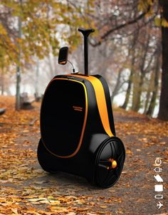 Energy generating luggage, for your iPhone and iPad.  As you roll the luggage, it generates electricity and charges a battery.  Later you can hook it up to charge your phone.