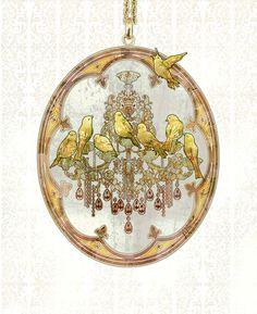 arcadia-art:カナリヤ :: No 400 / 20080111 lastup 西条八十は教会のキャンドルを見て歌を忘れたカナリヤをかいたのだそう。