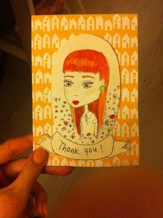 Thank you cards #thankyou #cards #illustration #art #handmade