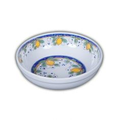 Picnic Alcantara Pasta/Soup Bowl.  Heavy duty Melamine  with Italian pattern and perfect for outdoor dining!
