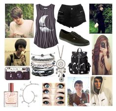 Spending the day with Dan by youtube-crazy on Polyvore featuring American Eagle Outfitters, Vans, Wild Pair, Domo Beads, Veja, danisnotonfire, danhowell, youtube and Youtuber