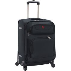 """Buy the SwissGear Travel Gear 21.5"""" Expandable Spinner at eBags - With a classic design and a sporty look, this spinner bag is perfect for all types of personal trave"""