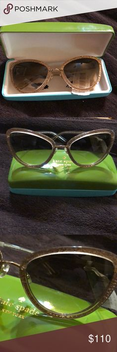 KATE SPADE SUNGLASSES Gold, Cat eye sunglasses. Has gold handles. Brand new with tags, no scratches. Just niceee! kate spade Accessories Sunglasses