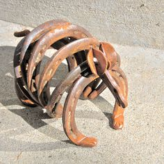Armadillo lawn art animal metal sculpture by BlacksmithCreations. $55.00, via Etsy.