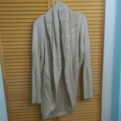 Light cream/tan sweater/cardigan Very soft & comfortable looks great with leggings and skinny jeans with boots Collective Concepts Sweaters Cardigans