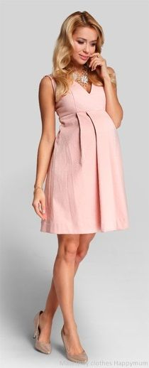 image 1 of Happy mum Passion pudre pink maternity dress