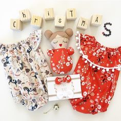 These stunning handmade Christmas rompers from Fremantle's Pip'n'Pop are perfect for baby's first Christmas.
