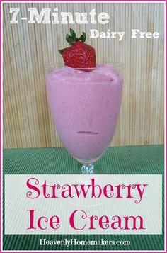 7-Minute Dairy Free Strawberry Ice Cream