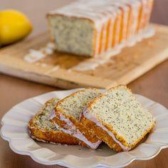 Lemon Poppy Seed Bread with Lemon Icing - Jo Cooks Poppy Seed Bread, Poppy Seed Cake, Dessert Bread, Dessert Recipes, Desserts, Jo Cooks, Lemon Icing, Lemon Poppyseed Muffins, Vanilla Yogurt