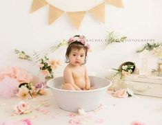 New bath tub pictures photography cake smash 45 Ideas #photography #bath Milk Bath Photography, Cake Smash Photography, Toddler Photography, Birthday Photography, Photography Ideas, Texture Photography, Girl Photography, Baby Milk Bath, Milk Bath Photos