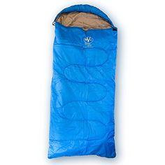 Outdoor Vitals OVRascal 40F Kids Sleeping Bag 3 Season Rectangular Lightweight Ultralight Camping Hiking Blue Fits 48  Under -- Visit the image link more details.