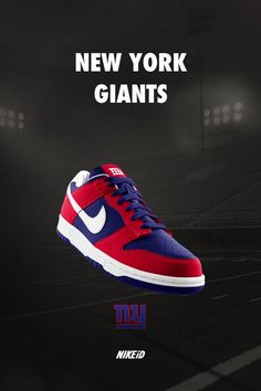 New York #Giants Nike Dunk iD Sneakers.