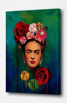 Frida Kahlo The Mexican Painter Canvas Oil Painting Pictures Printed for Wall Art Decor/ Home Living Frida Kahlo Artwork, Frida Kahlo Portraits, Kahlo Paintings, Frida Art, Oil Painting Pictures, Pictures To Paint, Print Pictures, Diego Rivera, Frida And Diego