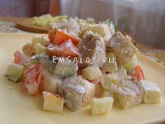 Салат из осетра - http://emsalat.ru/salad_fish/salat-iz-osetra.html