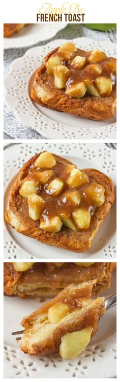 This Apple Pie French Toast is one seriously decadent breakfast! All the flavours of apple pie, with plenty of cinnamon is packed inside sweetened, milky bread before being fried. Sweet, tart and filling, the perfect breakfast for those weekend mornings. Breakfast Plate, Second Breakfast, What's For Breakfast, Savory Breakfast, Perfect Breakfast, Breakfast Dishes, Breakfast Recipes, Sandwiches, Delicious Desserts