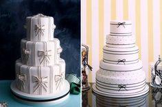 Com flores, listras, bolinhas, corações... Inspire-se com ideias lindas de bolo em preto e branco para a festa de 15 anos!