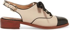 Ohhhhh my.  Sam Edelman - Damian Two-tone Leather Slingback Brogues - Neutral