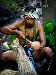 Man from Island of Yap, Federated States of Micronesia