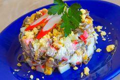 Салат с морской капустой и крабовыми палочками - рецепт с фото