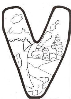 Molde de letras Inverno para mural! - ESPAÇO EDUCAR