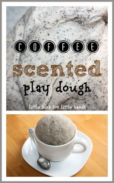 homemade coffee scented play dough