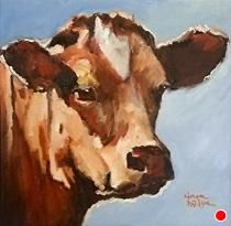 """Sophie by Norma Wilson Oil ~ 12"""" x 12"""""""