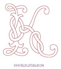 Awesome monogram letters. I LOVE the celtic K. I want it all over our house :)