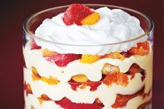 Grapefruit and Mandarin Trifle