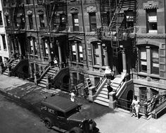 Ice delivery in NYC ...Greenwich Village, NY 1950