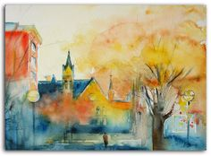 9x12 ORIGINAL Watercolor Painting on paper by by studiomosaic, $99.00