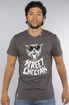 The LRG Street Cheetah Slim Fit Tee in Black Heather by LRG  20%off with use of repcode: PLNDR11