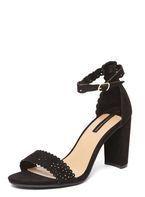 Womens Black 'Swan' Laser Cut Sandals- Black