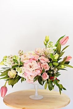Beautiful pink and white flowers