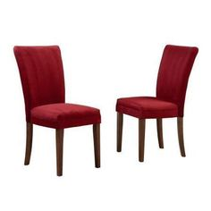 Home Decorators Collection 18 in. Side Chair, Rasberry Microfiber (Set of 2) 40721RDS[2PC]