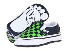 3d56115aca6 Vans kids classic slip on infant toddler checkerboard dress blues green  flash